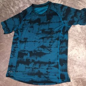 Nike Dri Fit Black And Blue Shirt